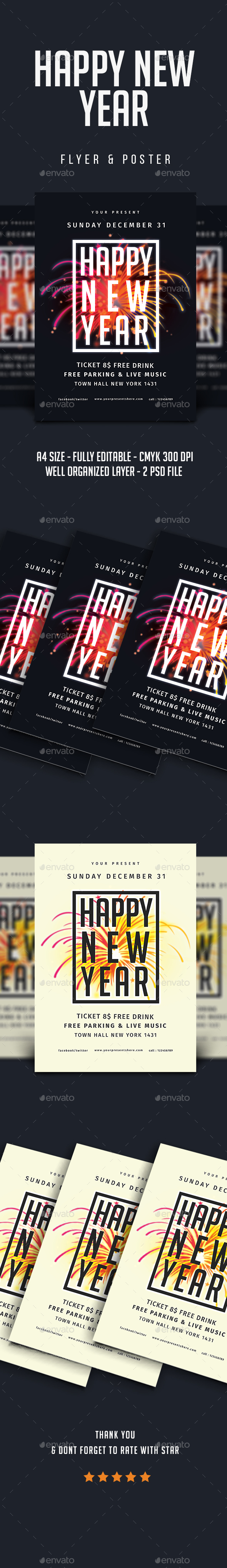 GraphicRiver New Year Flyer Vol.4 21050171
