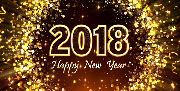 happy new year 2018 video effects stock videos from videohive