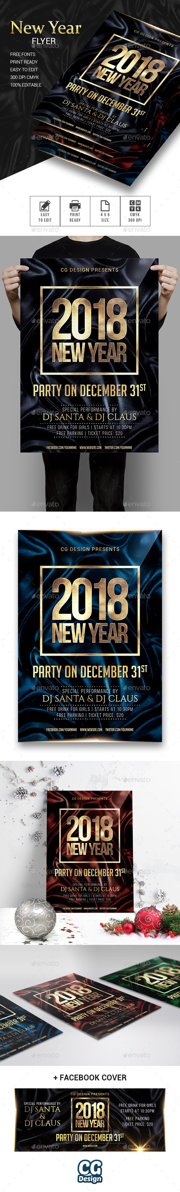 GraphicRiver New Year Flyer 21050345