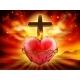 Sacred Heart Christian Illustration