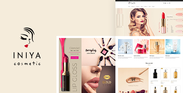 Image of Iniya - Cosmetic WordPress Theme