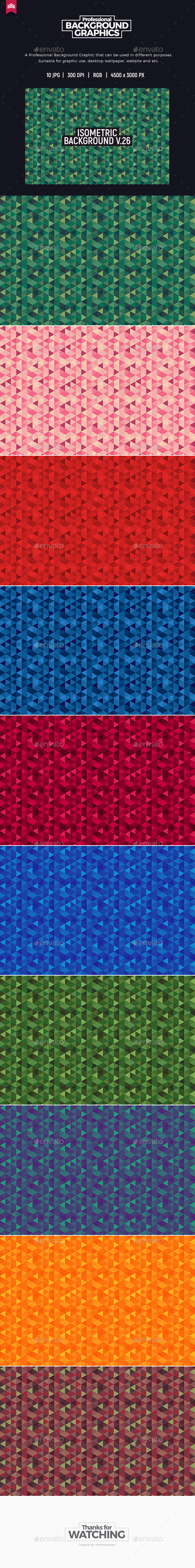 Isometric Background V.26 - Patterns Backgrounds