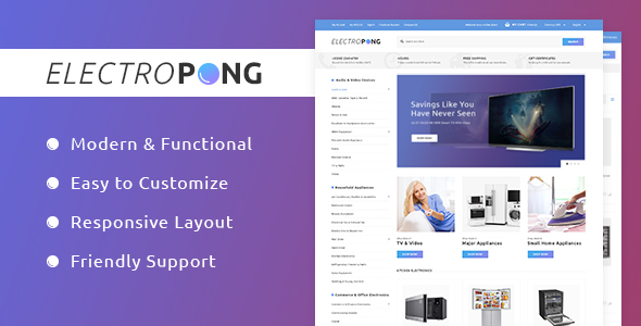 Image of Electropong - Home Electronics Magento 2 Theme
