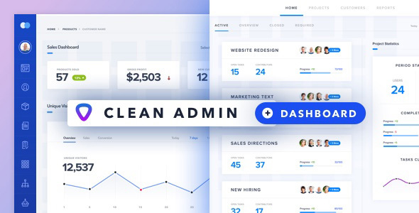 Clean Bootstrap 4 Dashboard HTML Template