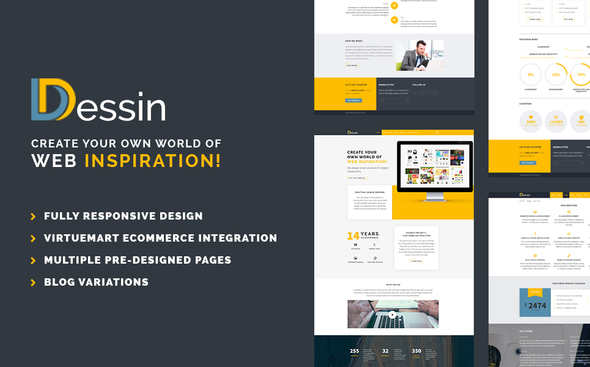 Dessin - Multipurpose Responsive Joomla theme - Business Corporate