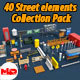 40 Street elements Collection Pack - 3DOcean Item for Sale