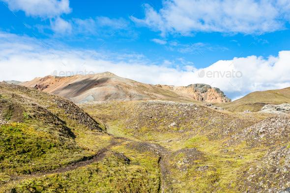 mountains in Landmannalaugar in Iceland - Stock Photo - Images
