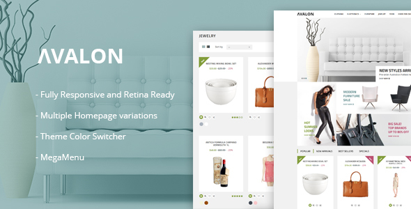 Avalon - Wholesale Store Responsive Prestashop Theme