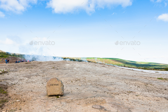 The Geisyr (The Great Geysir) in Haukadalur - Stock Photo - Images
