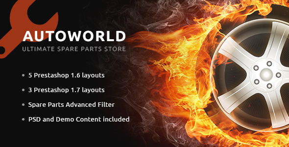 Image of Autoworld - Spare Parts Responsive PrestaShop 1.6 and 1.7 Theme