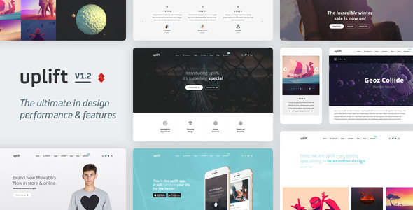 Uplift Responsive Multi Purpose Wordpress Theme By Swiftideas