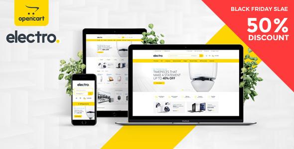 Electro Electronics Store OpenCart Theme - Technology OpenCart