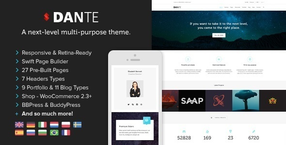 Dante - Responsive Multi-Purpose WordPress Theme - Corporate WordPress