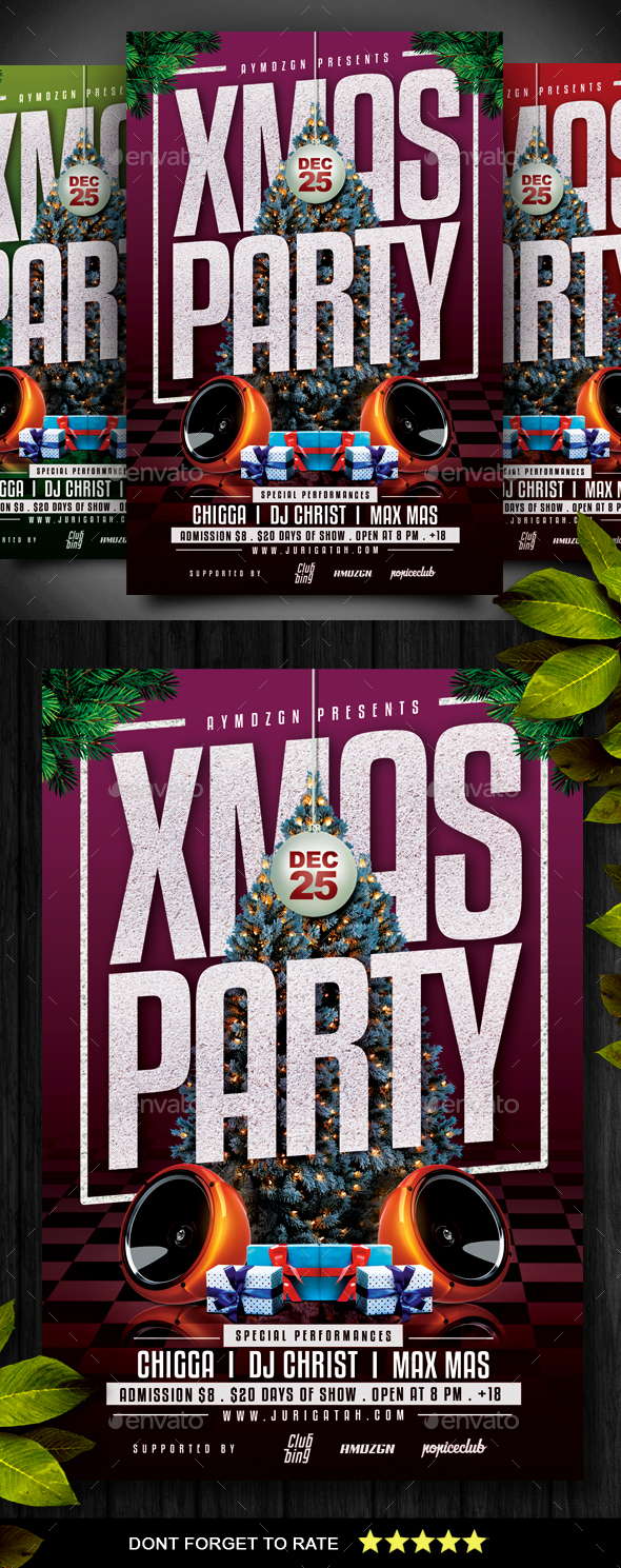 GraphicRiver Christmas Party Flyer 21051303