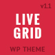 LIVE GRID - Responsive Interactive Wordpress Theme - ThemeForest Item for Sale