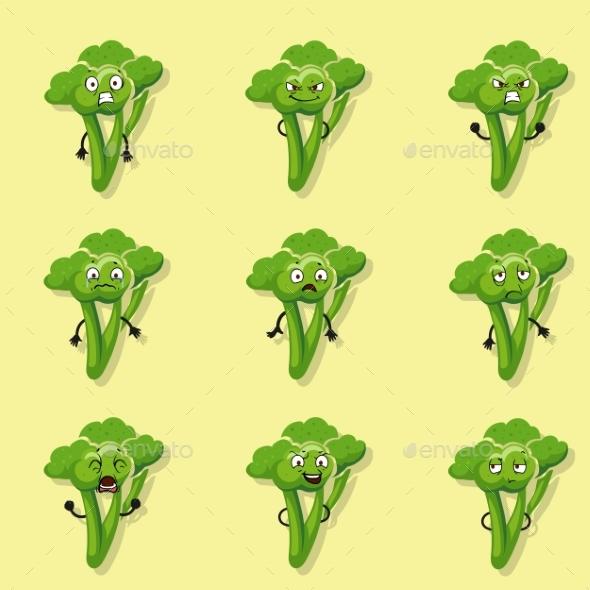 Broccoli Negative Emotions - Miscellaneous Vectors