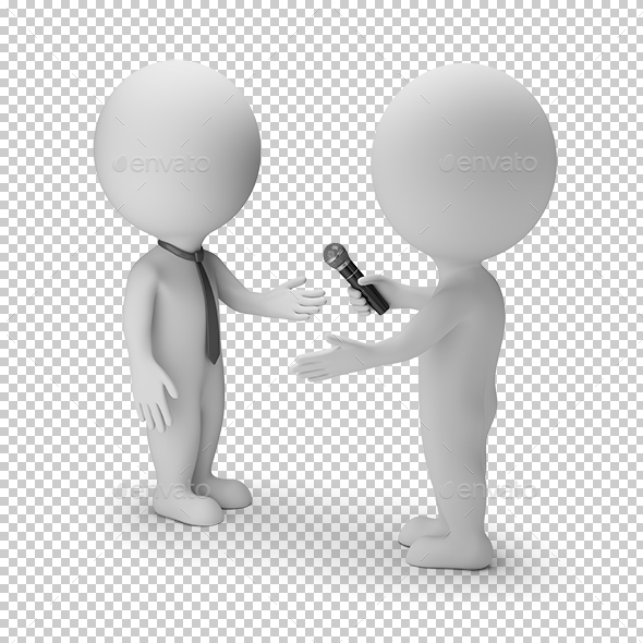 GraphicRiver 3D Small People Interview 21051509