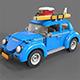 Lego car Volkswagen beetle