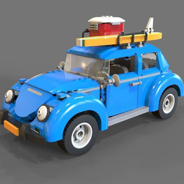 Lego car Volkswagen beetle - 3DOcean Item for Sale
