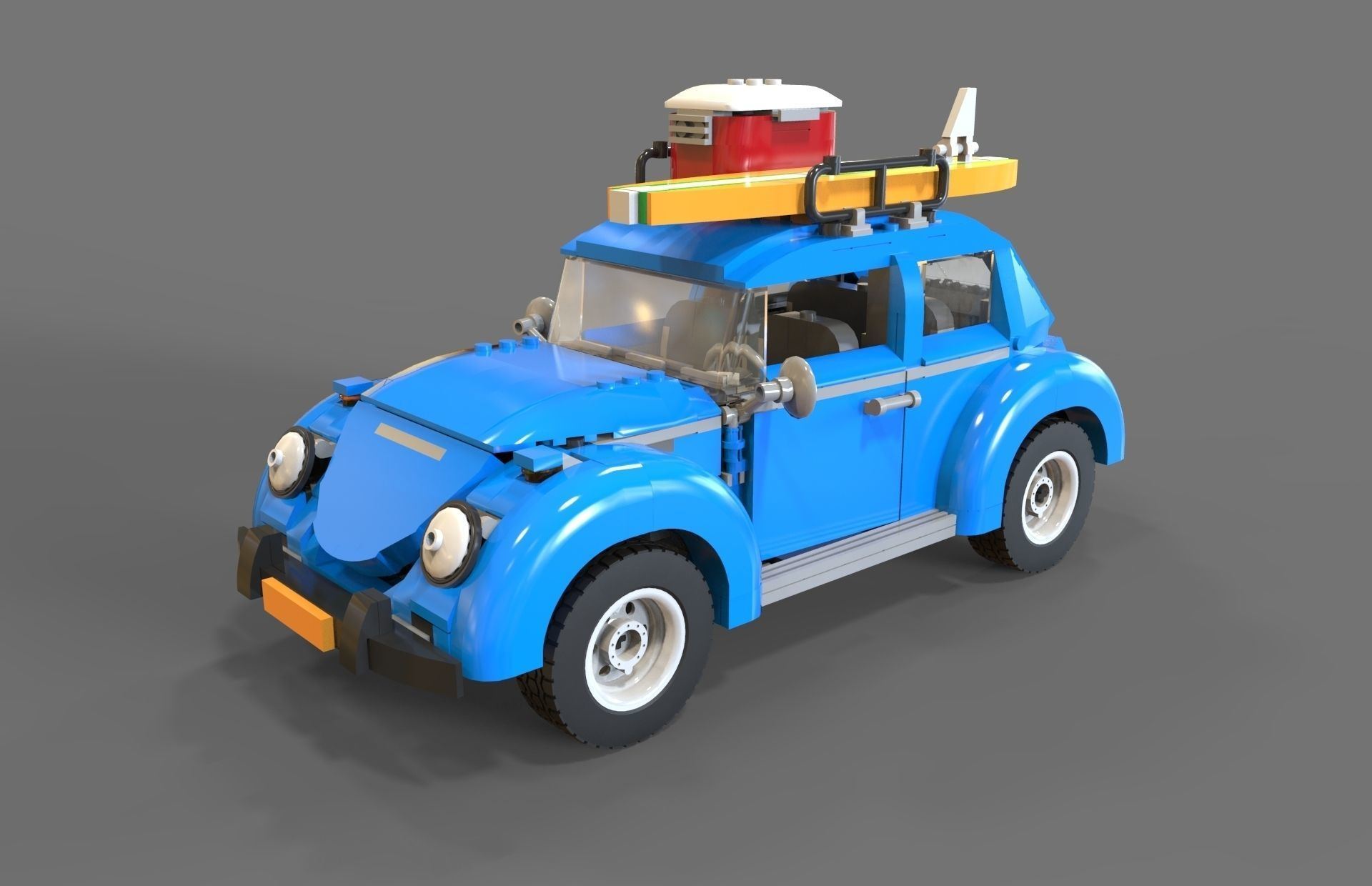 lego car volkswagen beetle by vladim00719 3docean. Black Bedroom Furniture Sets. Home Design Ideas