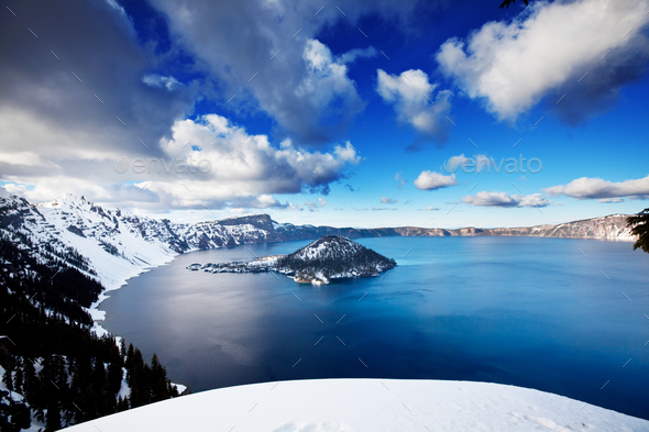 Crater lake - Stock Photo - Images