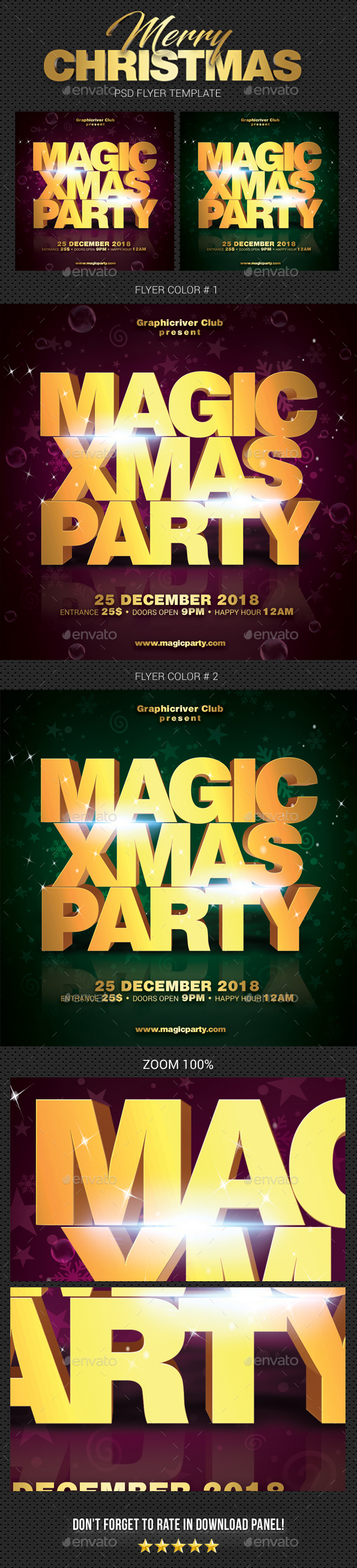 GraphicRiver Merry Christmas Party Flyer 06 21051550