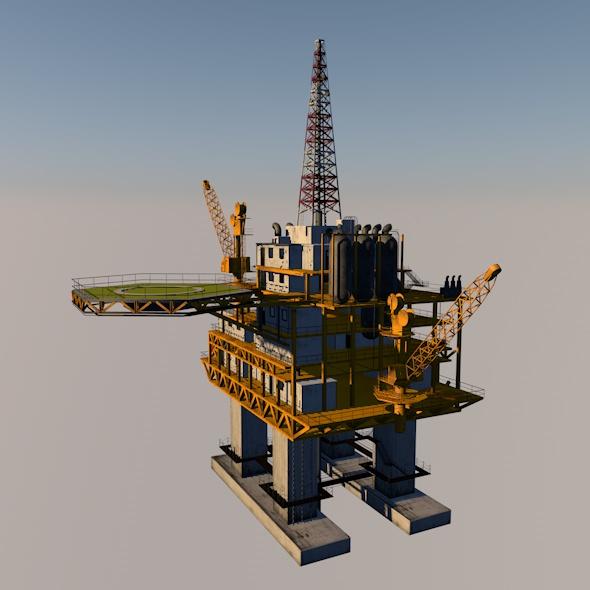 3DOcean oil platform 21051551
