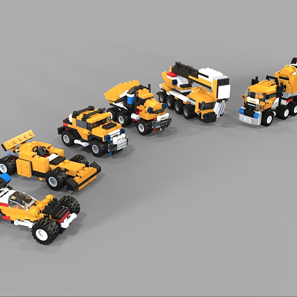 Lego cars pack - 3DOcean Item for Sale
