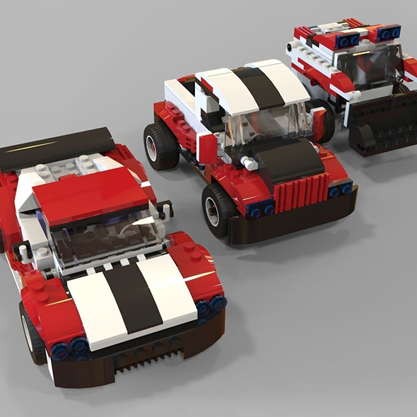 Lego cars pack 2 - 3DOcean Item for Sale