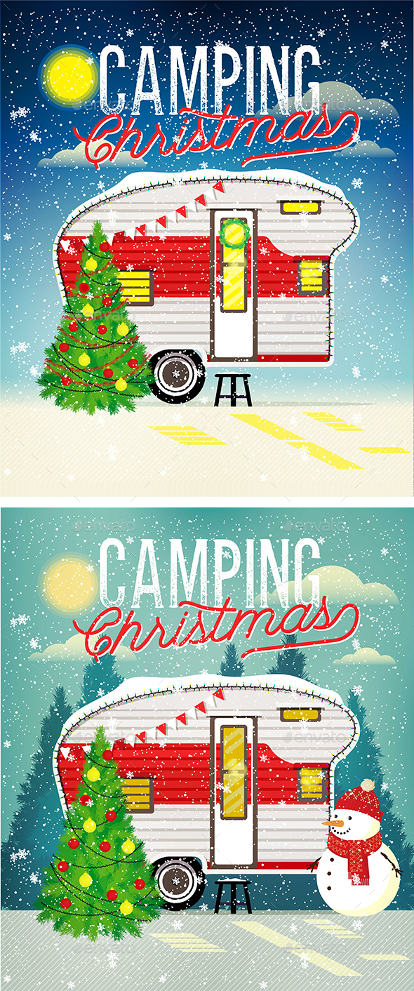 GraphicRiver Christmas Travel Trailer 21051624