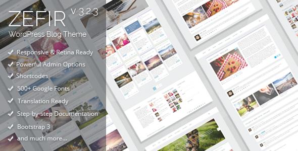 Zefir - Simple and Clean WordPress Blog Theme