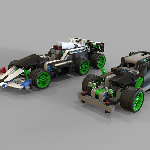 Lego Cars racing - 3DOcean Item for Sale