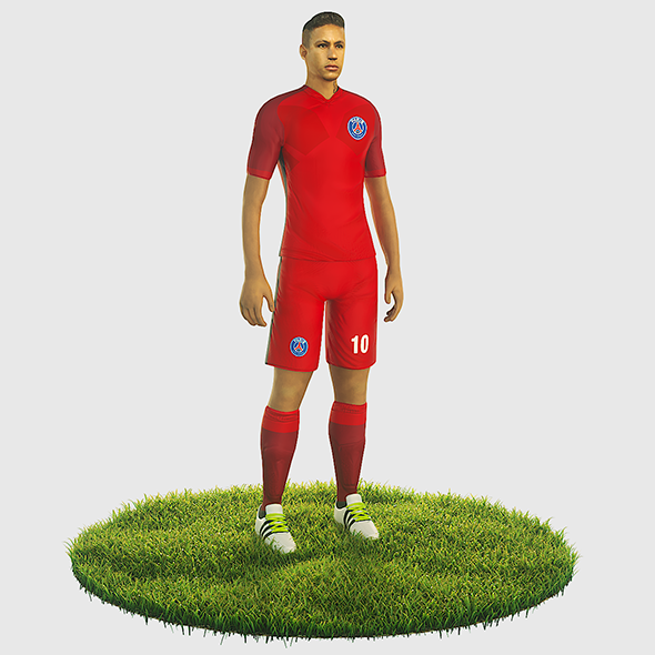 3DOcean Neymar football Player game ready character 21051648