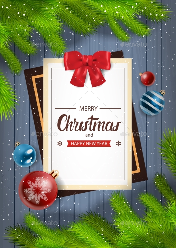 Winter Holidays Background Merry Christmas - Backgrounds Decorative
