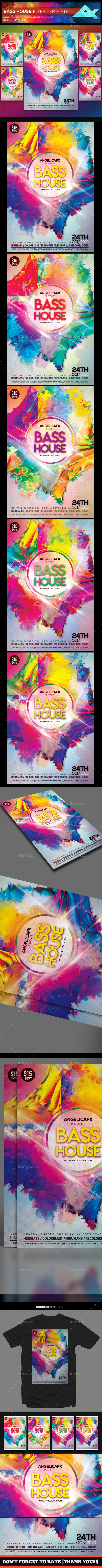 Bass House Flyer Template - Events Flyers