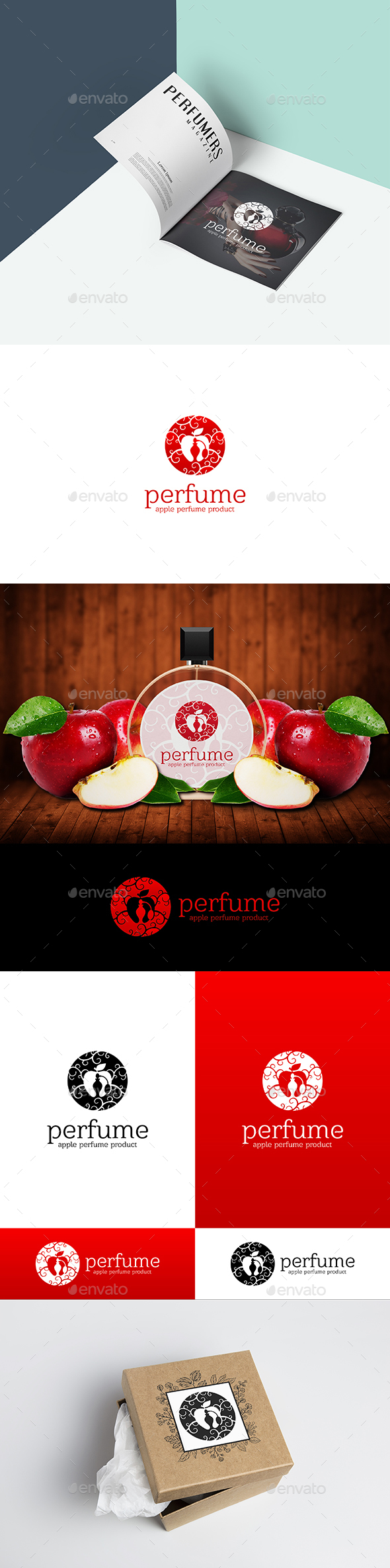 Apple Perfume Logo Template - Objects Logo Templates