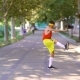 Funny Thin Freak Man Doing Exercises in the Park - VideoHive Item for Sale