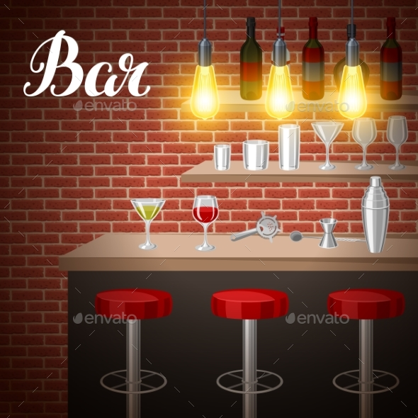 Bar Counter in Pub or Night Club - Services Commercial / Shopping