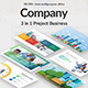 3 in 1 Company Project Bundle Powerpoint Template