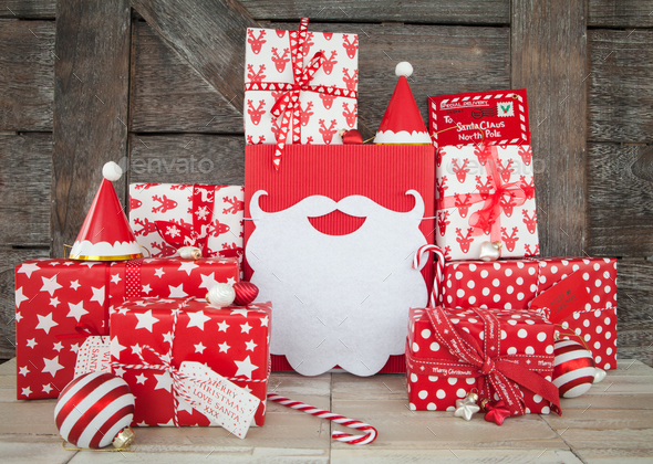 Colorful christmas presents - Stock Photo - Images
