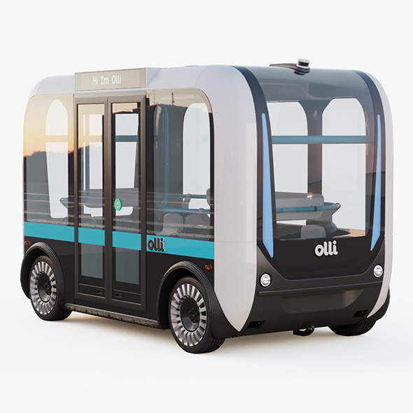 3DOcean Driverless Bus Local Motors Olli 21052063