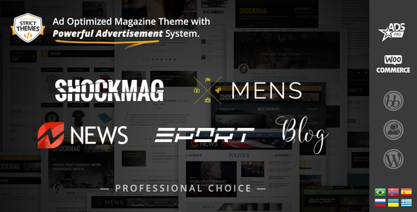 Shockmag - Ad Optimized Magazine WordPress Theme with Powerful Advertisement System