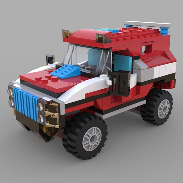 Lego jeep game - 3DOcean Item for Sale