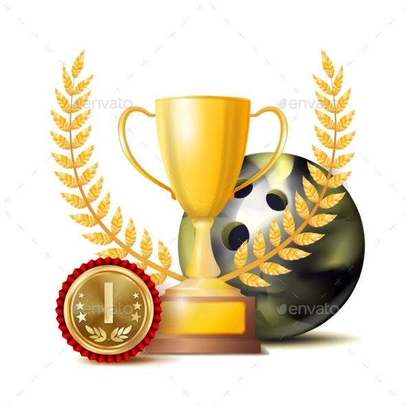 GraphicRiver Bowing Achievement Award Vector 21052228