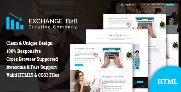Exchange B2B || Creative Corporate Bootstrap Template - Business Corporate