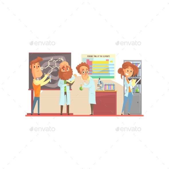 Group of Scientists - Miscellaneous Vectors