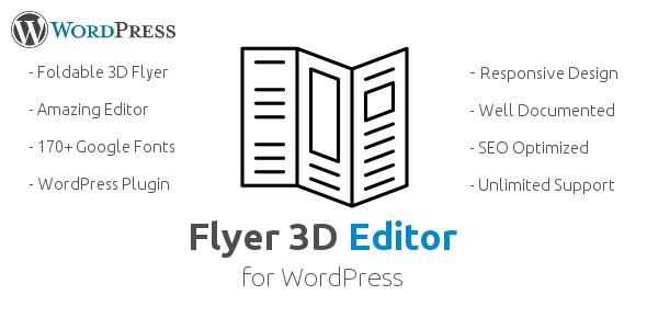 Flyer 3D Editor WordPress Plugin Create Responsive 3D Flyer Menu Card Pricelist Restaurant Menu
