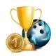 Bowling Award Vector