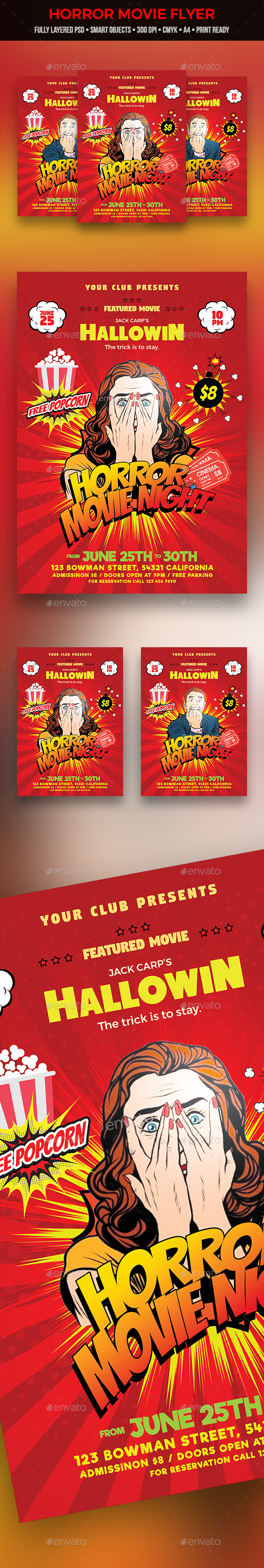 Horror Movie Flyer - Clubs & Parties Events