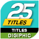 Dynamic Titles Animation - VideoHive Item for Sale